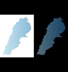 Lebanon map hex-tile abstraction vector