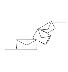 Letter envelope email icon isolated on white vector