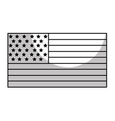 Line usa flag to celebrate holiday patriotic vector