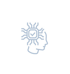 Machine learning artificial neural network icon vector