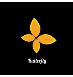 orange Abstract butterfly vector image