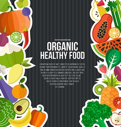 Organic Food Concept vector image