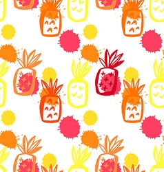Pineapple pattern52 vector
