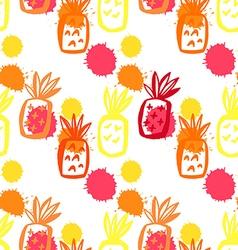 Pineapple pattern52 vector image