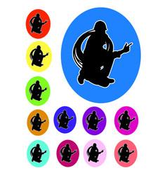 plumber logo silhouette vector image