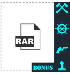 rar icon flat vector image