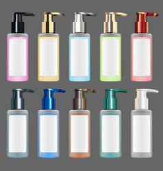 real colorful metallic liquid cosmetic tube vector image