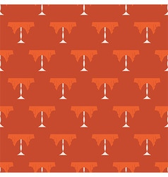 Restaurant Table Vintage Seamless Pattern vector image