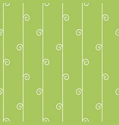 Seamless geometric pattern vertical vine on green vector
