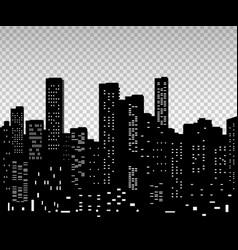 seamless night cityscape vector image