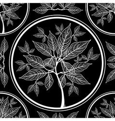Seamless tree pattern 010 vector