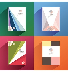 set collection of brochure cover templates with vector image