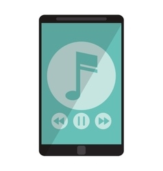 smartphone music note digital app vector image