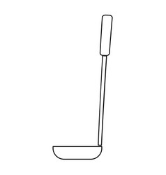 Soup ladle the black color icon vector