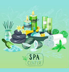 spa background with organic products vector image