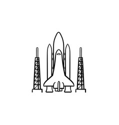 space shuttle hand drawn outline doodle icon vector image