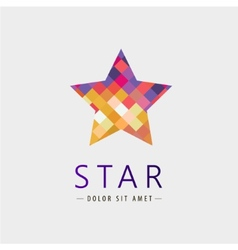 Star logo icon isolated identity vector