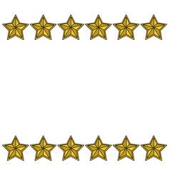 Stars frame white background vector