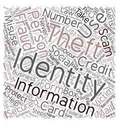 Steps You Can Take to Prevent Identity Theft text vector image