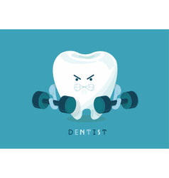 Strong tooth vector image