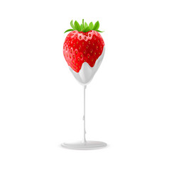 sweet strawberries vector image