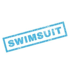 Swimsuit Rubber Stamp vector