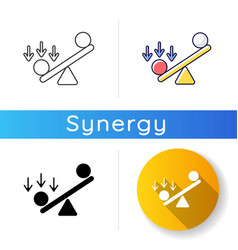 Synergy bias icon vector