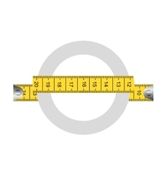 tape measure ribbon icon vector image