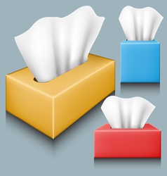 Tissue box set vector