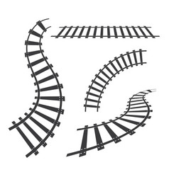 train tracks icon design vector image