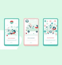 Van life movement onboarding mobile app screen vector