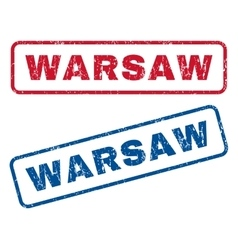 Warsaw rubber stamps vector