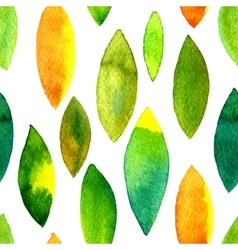 watercolor seamless pattern with leaves vector image