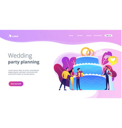 wedding party concept landing page vector image