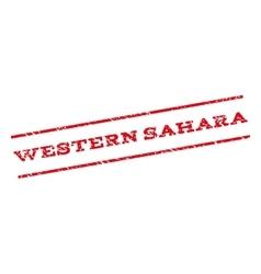 Western Sahara Watermark Stamp vector image