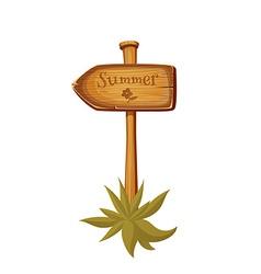 Wooden sign post vector