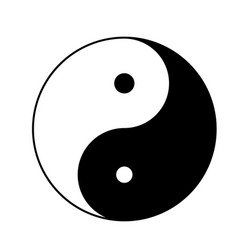Yin yang icon isolated on white background yin vector