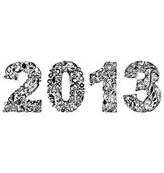 2013 floral design vector image