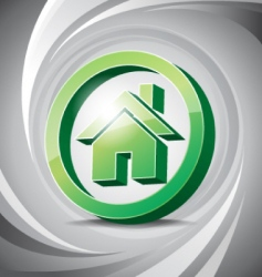 3D icon home vector image vector image