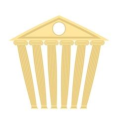Ancient antique building Building with columns vector image