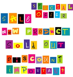 Banner with special offers and sale mesages vector image
