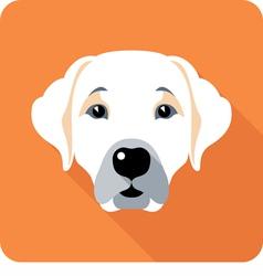 dog Labrador Retriever icon flat design vector image vector image