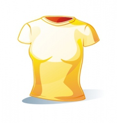 woman's t-shirt vector image vector image