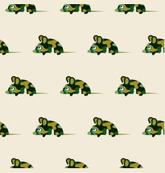 cute camo mice design seamless pattern vector image vector image