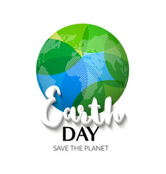 Earth Day Earth World map globe sign Hand drawn vector image vector image