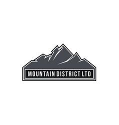mountain district ltd vector image