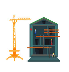 staged construction of the house vector image
