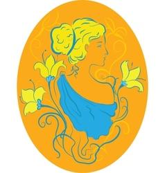 vintage woman vector image vector image