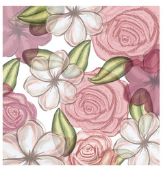 Colorful floral pattern with flowers in vector