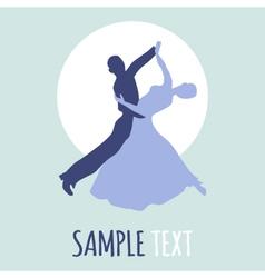 Couple dancing ballroom dance logo vector image